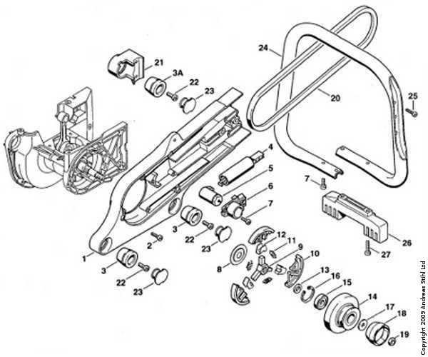 stihl 029 chainsaw parts breakdown